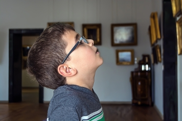 boy in gallery