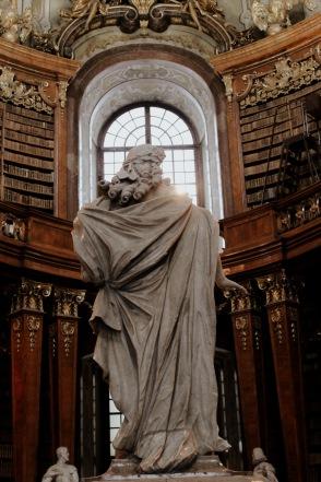 Grecian statue inside library